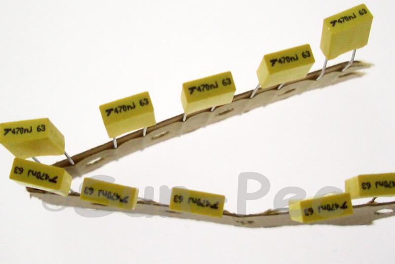 474J Polyester Film Capacitor CBB 63V +-5% 0.47uf 5pcs - 40pcs