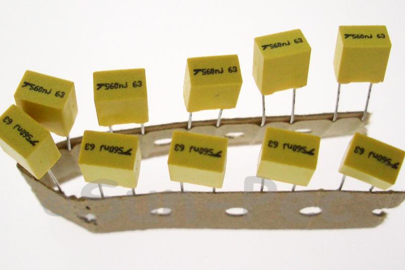 564J Polyester Film Capacitor CBB 63V +-5% 0.56uf 5pcs - 40pcs