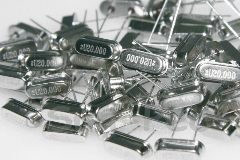 20.0000 MHz Crystal Oscillator Low Profile HC-49S 5pcs - 50pcs