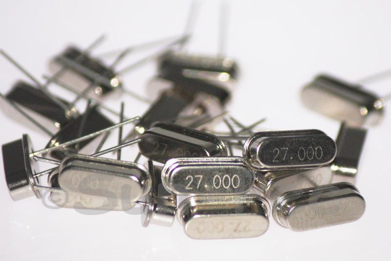 27.0000 MHz Crystal Oscillator Low Profile HC-49S 5pcs - 50pcs