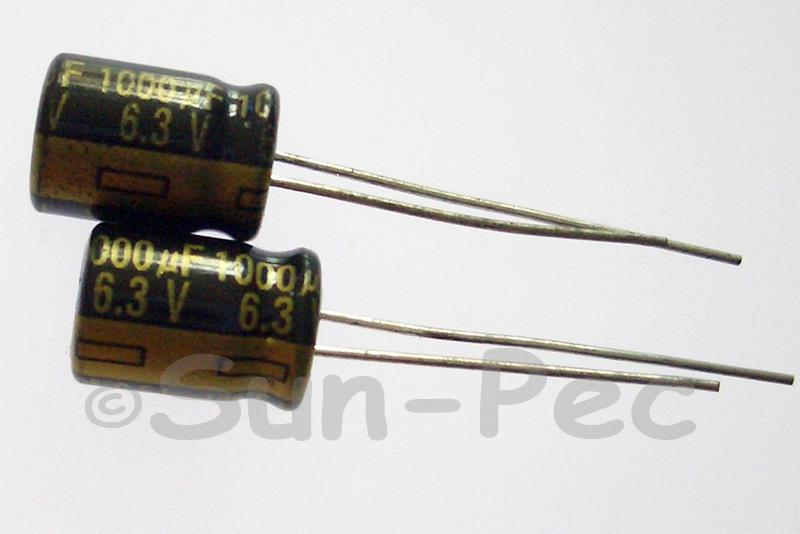 6.3V 1000uF Electrolytic Capacitor E-Cap +-20% 8x12mm 10pcs - 100pcs