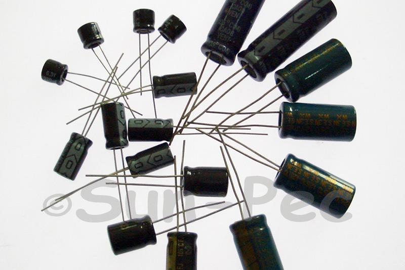 6.3V 100uF Electrolytic Capacitor E-Cap +-20% 4x6mm 10pcs - 100pcs