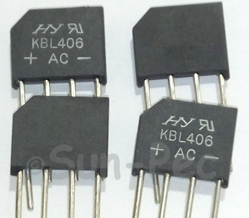 KBL406 SEP IC 4A 600V 2pcs - 5pcs
