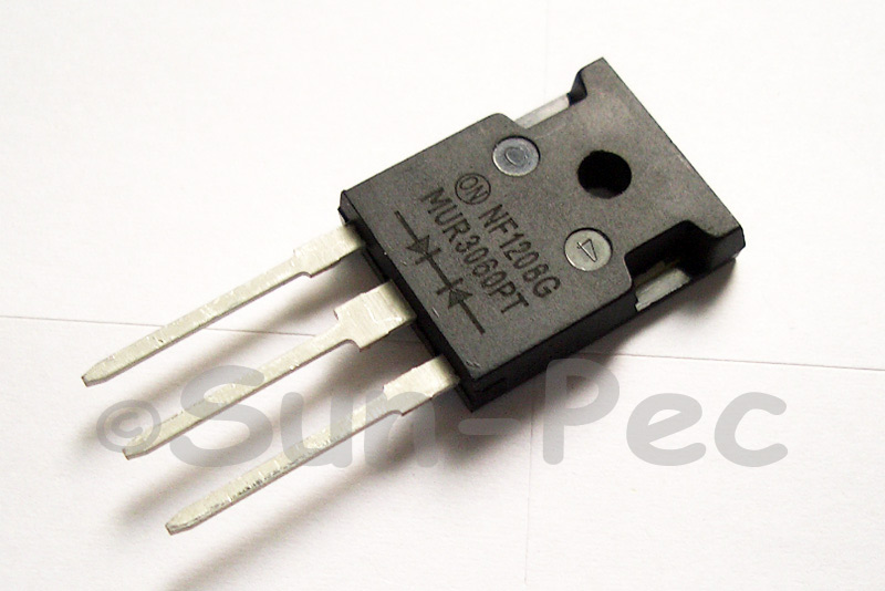 MUR3060PT ON Semi ULTRAFAST POWER RECTIFIERS 60ns 600V 15A TO-3P 3pcs