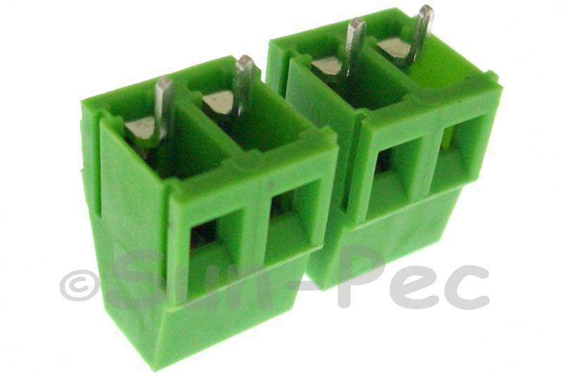 2 Pins Poles PCB Screw Terminal Block Connector 300V 10A 2 Pole Green 4pcs - 30pcs