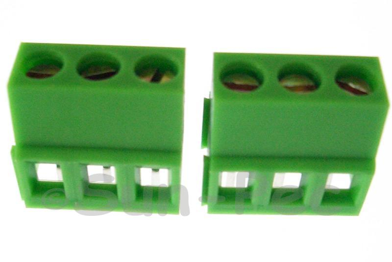 3 Pins Poles PCB Screw Terminal Block Connector 300V 10A 3 Pole Green 4pcs - 20pcs