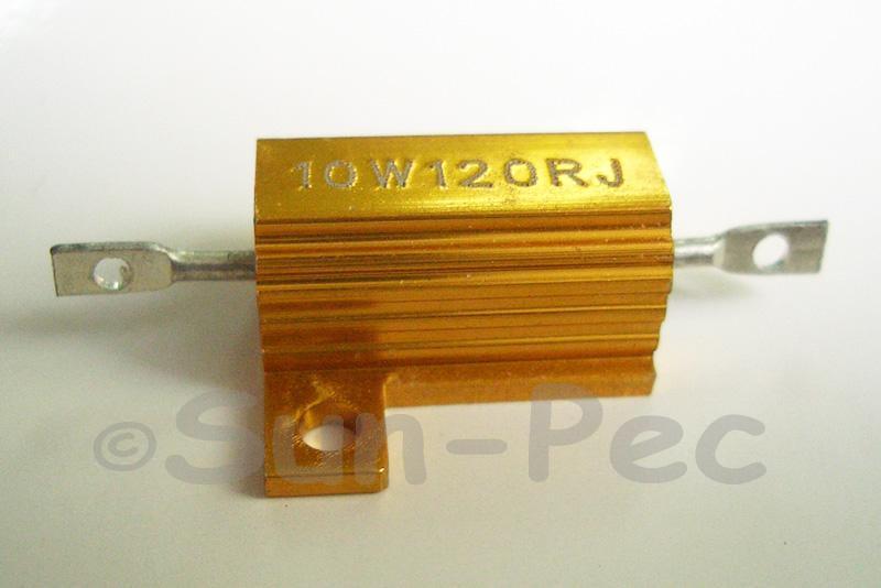 10W Wirewound Resistor Aluminium Clad 0.1 Ohm - 5.1K Ohm choices 1pcs - 2pcs