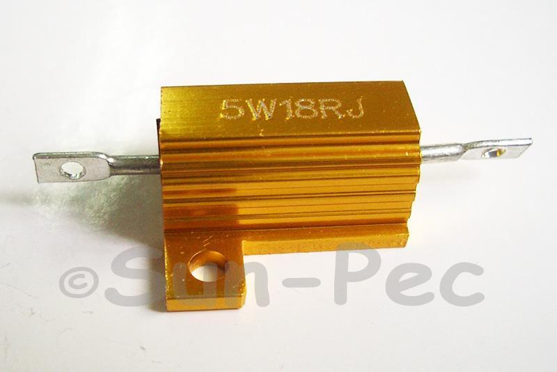 5W Wirewound Resistor Aluminium Clad 0.1 Ohm - 22K Ohm choices 1pcs - 2pcs