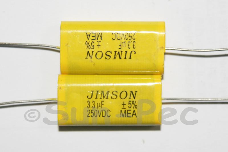 335 Polyester Film Capacitor CL 250V 3.3uf 30 x 9 x 17mm 1pcs - 4pcs