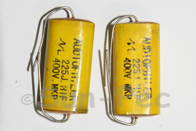 225 Polyester Film Capacitor CL 400V 2.2uf Axial Audiophiler 30 x 10 x 18mm 1pcs - 2pcs