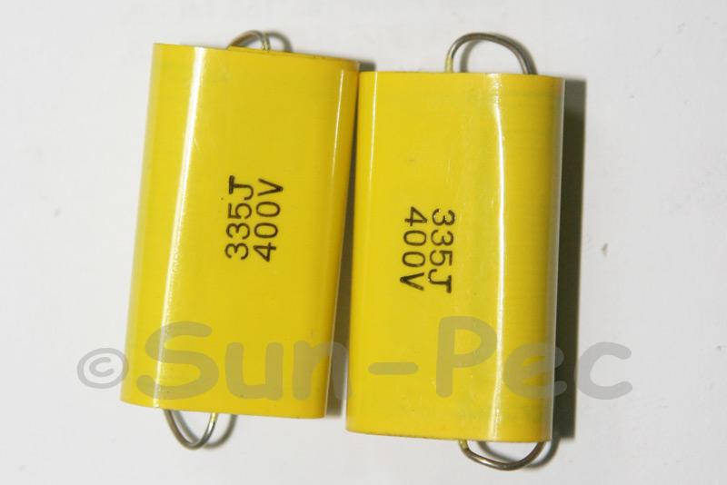 335 Polyester Film Capacitor CL 400V 3.3uf 35 x 11 x 19mm 1pcs - 2pcs