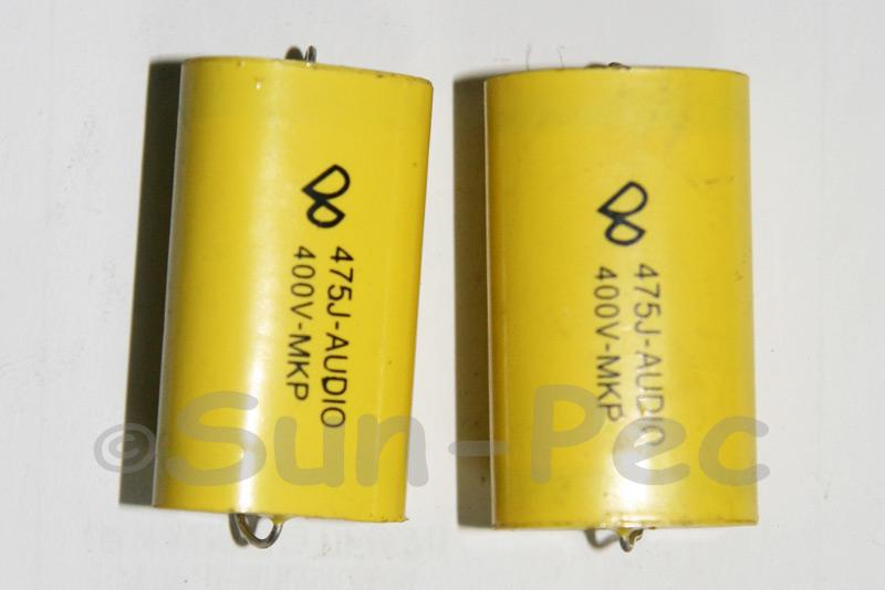 475 Polyester Film Capacitor CL 400V 4.7uf 35 x 13.5 x 21.5mm 1pcs - 2pcs