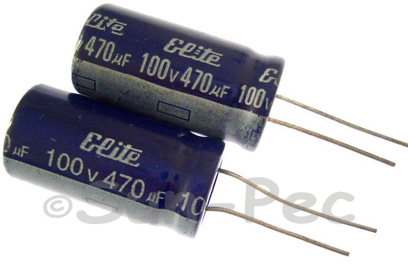 100V 470uF Electrolytic Capacitor E-Cap +-20% 16x30mm 1pcs - 4pcs