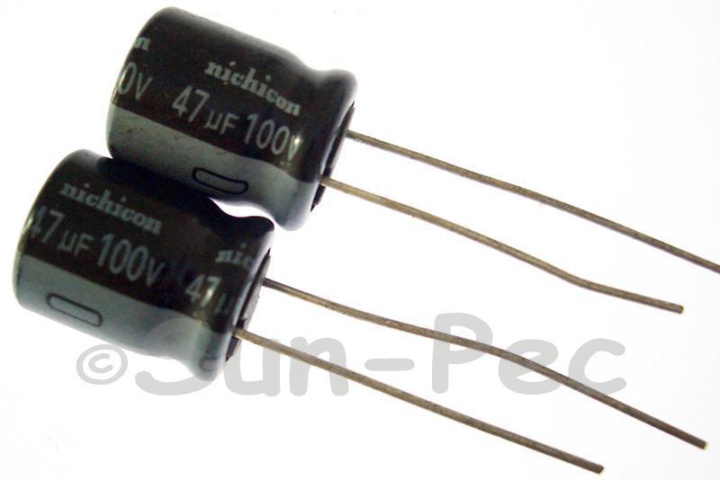 100V 47uF Electrolytic Capacitor E-Cap +-20% 10x13mm 2pcs - 20pcs