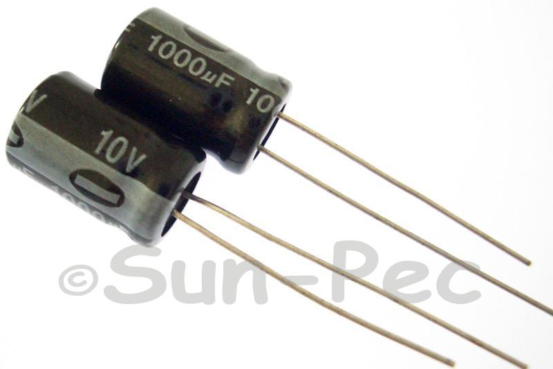10V 1000uF Electrolytic Capacitor E-Cap +-20% 8x12mm 2pcs - 30pcs