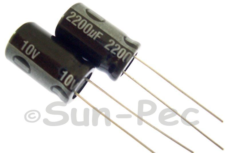 10V 2200uF Electrolytic Capacitor E-Cap +-20% 10x20mm 2pcs - 10pcs