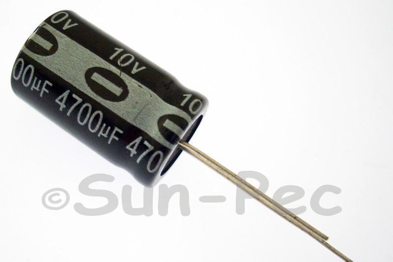 10V 4700uF Electrolytic Capacitor E-Cap +-20% 13x25mm 2pcs - 10pcs