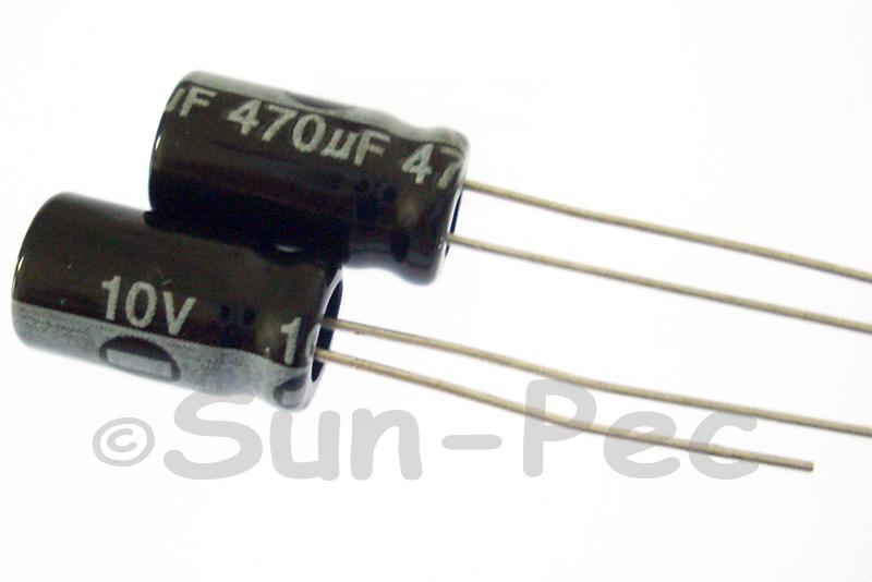 10V 470uF Electrolytic Capacitor E-Cap +-20% 6x12mm 10pcs - 50pcs