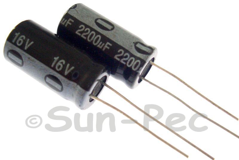 16V 2200uF Electrolytic Capacitor E-Cap +-20% 10x20mm 2pcs - 10pcs