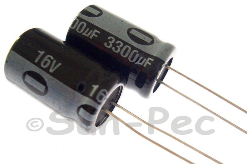 16V 3300uF Electrolytic Capacitor E-Cap +-20% 13x20mm 1pcs - 10pcs