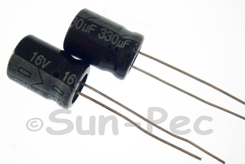 16V 330uF Electrolytic Capacitor E-Cap +-20% 8x12mm 10pcs - 50pcs