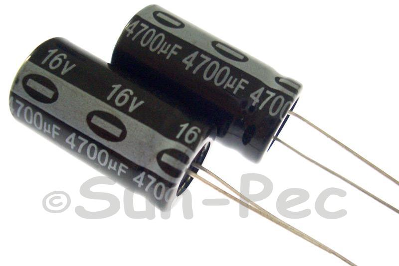 16V 4700uF Electrolytic Capacitor E-Cap +-20% 13x25mm 1pcs - 5pcs
