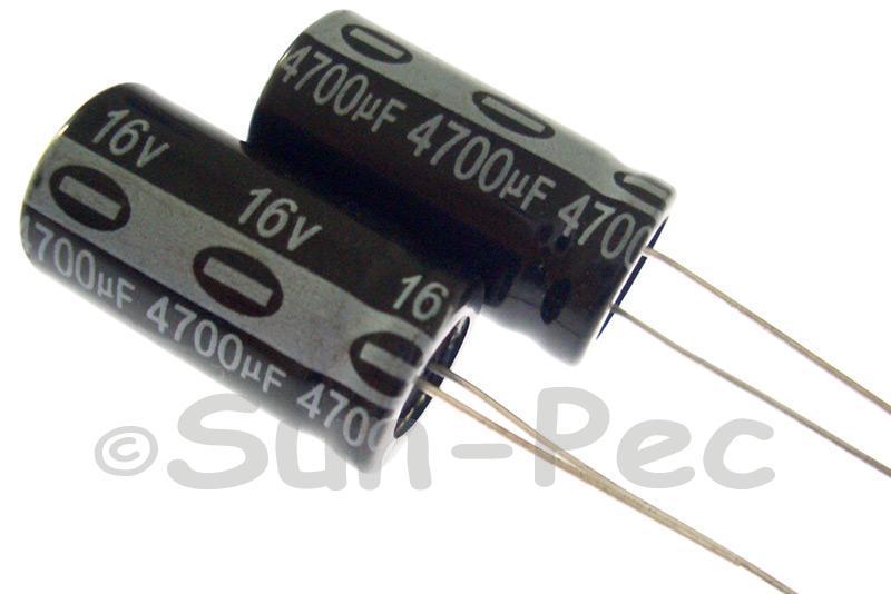 16V 4700uF Electrolytic Capacitor E-Cap +-20% 13x25mm 1pcs - 5pcs