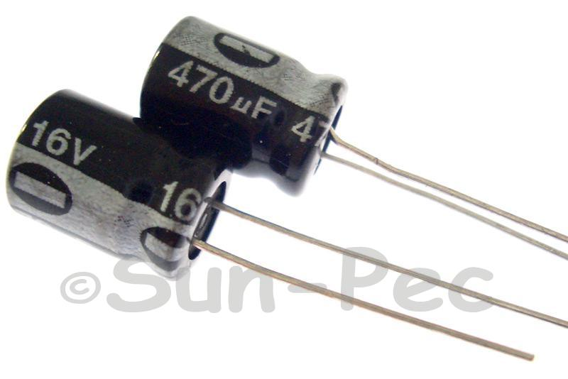16V 470uF Electrolytic Capacitor E-Cap +-20% 8x12mm 10pcs - 50pcs