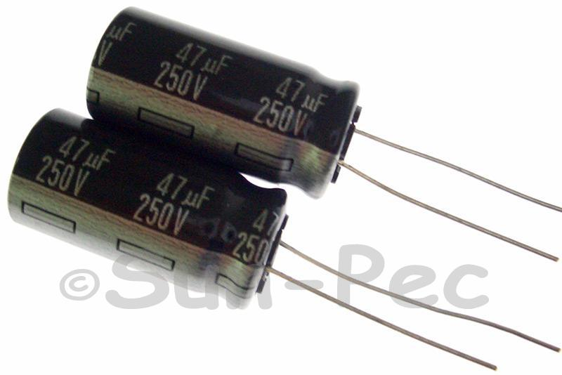 250V 47uF Electrolytic Capacitor E-Cap +-20% 13x25mm 1pcs - 5pcs