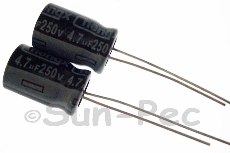 250V 4.7uF Electrolytic Capacitor E-Cap +-20% 8x12mm 5pcs - 50pcs