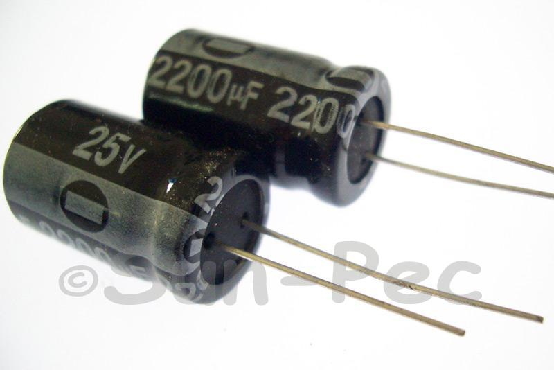 25V 2200uF Electrolytic Capacitor E-Cap +-20% 13x20mm 1pcs - 10pcs