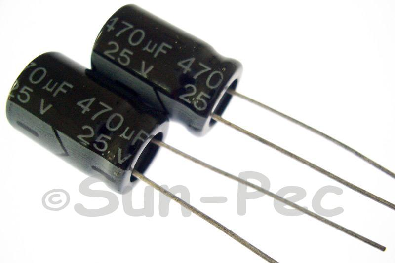 25V 470uF Electrolytic Capacitor E-Cap +-20% 10x16mm 2pcs - 20pcs