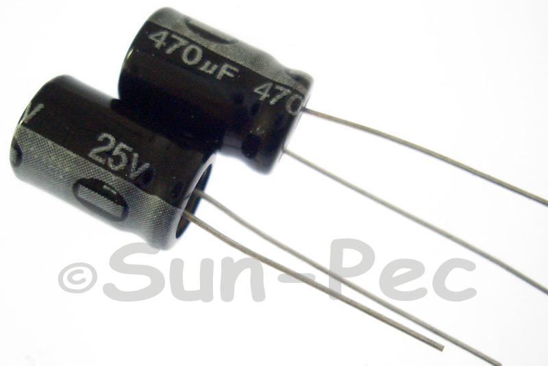 25V 470uF Electrolytic Capacitor E-Cap +-20% 8x12mm 5pcs - 30pcs