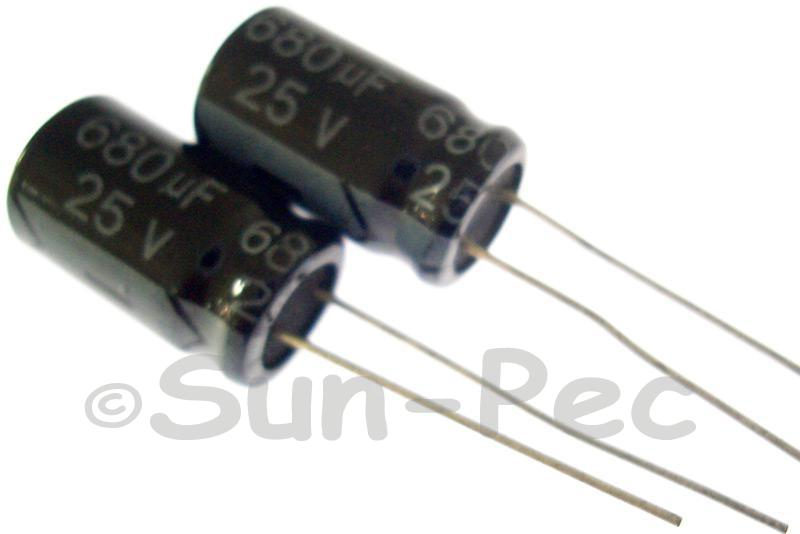 25V 680uF Electrolytic Capacitor E-Cap +-20% 10x16mm 2pcs - 20pcs