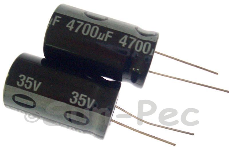 35V 4700uF Electrolytic Capacitor E-Cap +-20% 18x32mm 2pcs