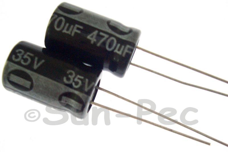35V 470uF Electrolytic Capacitor E-Cap +-20% 10x16mm 5pcs - 15pcs