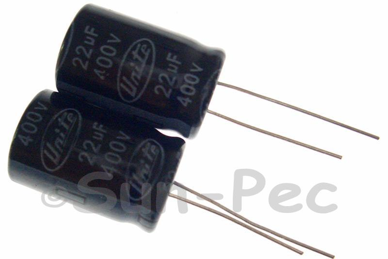 400V 22uF Electrolytic Capacitor E-Cap +-20% 13x20mm 2pcs - 10pcs