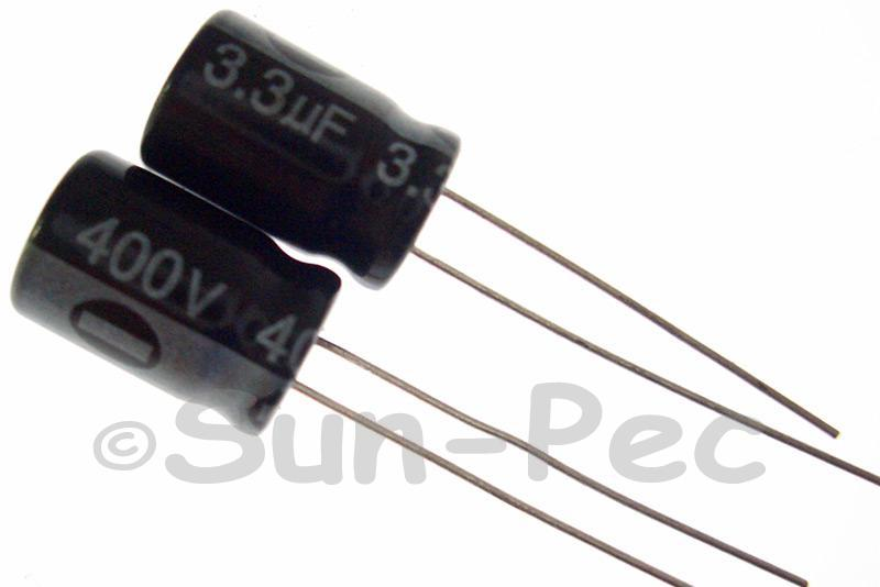 400V 3.3uF Electrolytic Capacitor E-Cap +-20% 8x12mm 5pcs - 20pcs