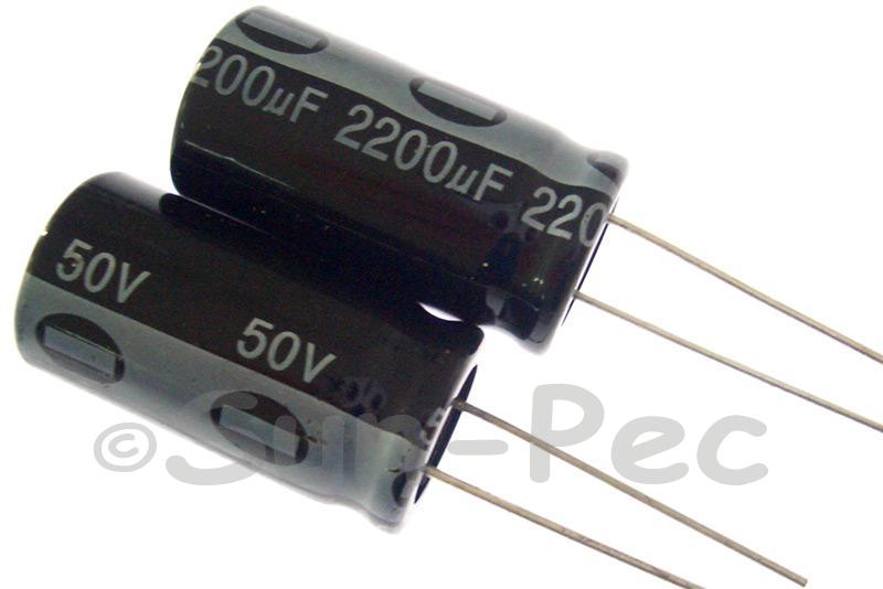 50V 2200uF Electrolytic Capacitor E-Cap +-20% 16x32mm 1pcs - 5pcs