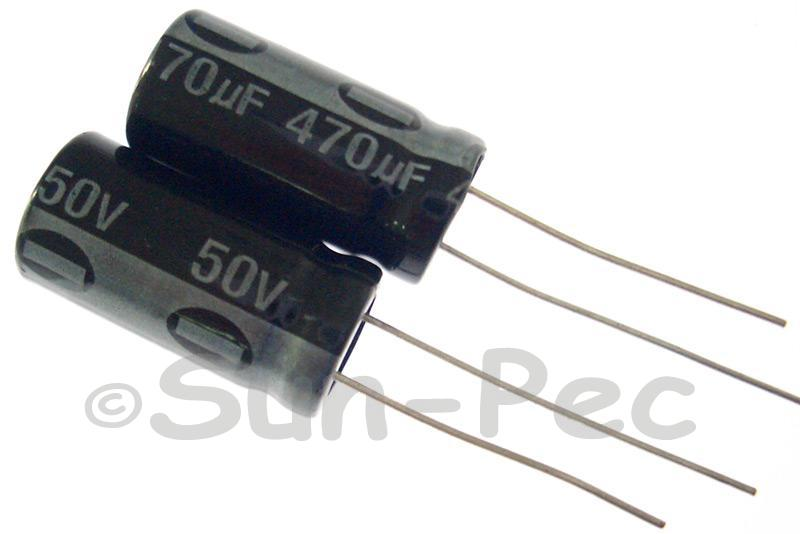 50V 470uF Electrolytic Capacitor E-Cap +-20% 10x20mm 2pcs - 10pcs