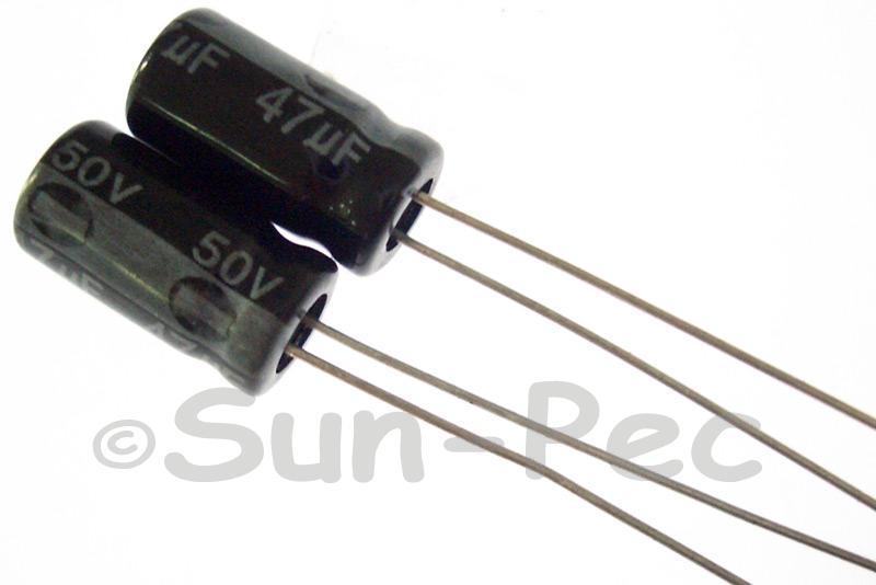 50V 47uF Electrolytic Capacitor E-Cap +-20% 6x12mm 10pcs - 50pcs