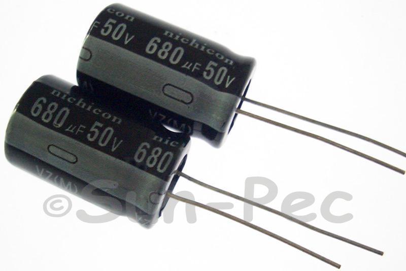 50V 680uF Electrolytic Capacitor E-Cap +-20% 13x20mm 2pcs - 10pcs