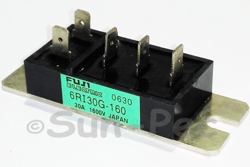 6RI30G-160 FUJI 3 PHASE Power Diode Module Bridge Rectifier 1600V 30A 1pcs