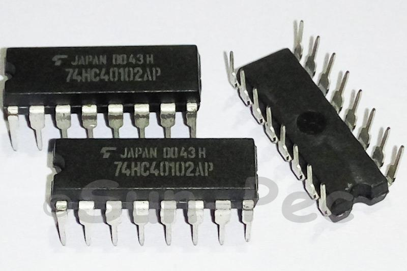 74HC40102AP TOSHIBA DUAL BCD/8-BIT BINARY DIP-16 2pcs