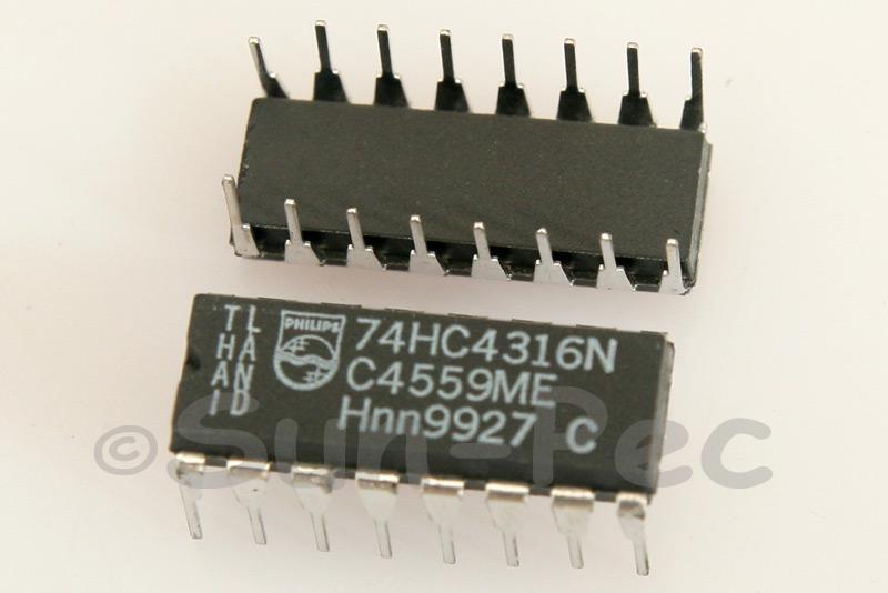 74HC4316 DIP16 2pcs - 6pcs