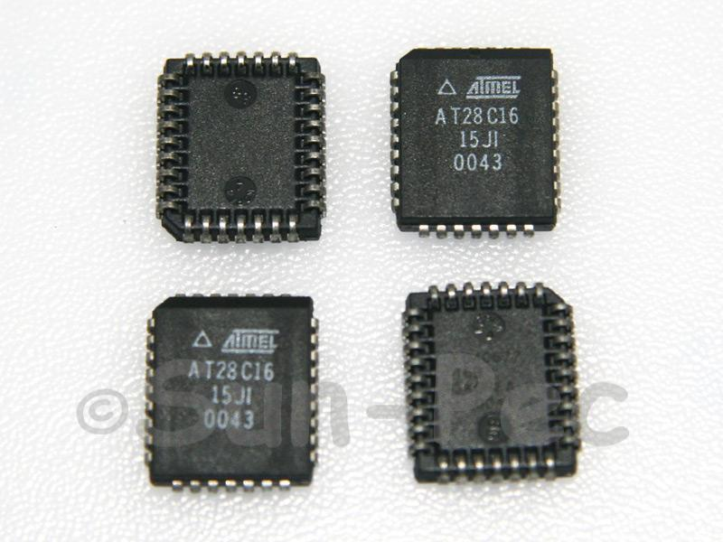 AT28C16-15JI AMTEL 16K (2K x 8) Parallel EEPROMs 5V 30mA PLCC-32 1pcs