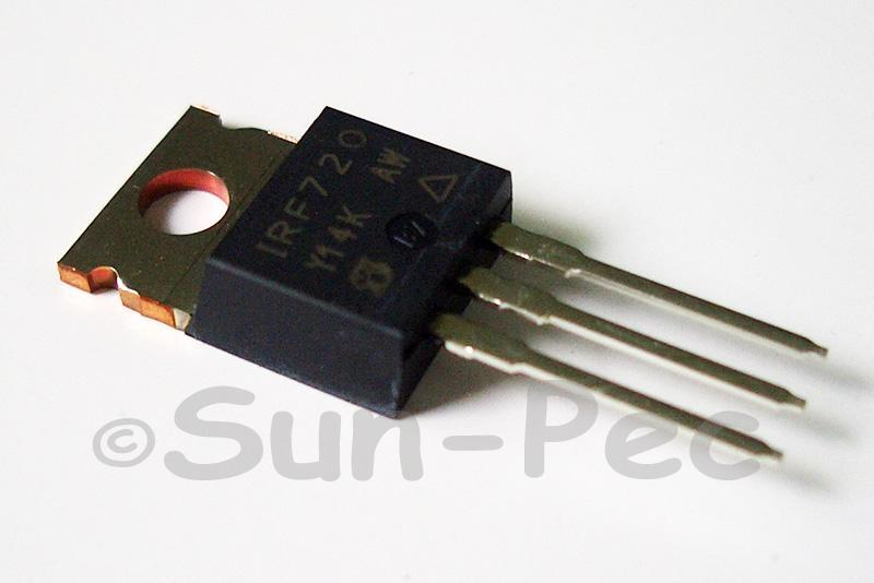 IRF720 N-Channel power Mosfet 400V 3A TO220 2pcs - 6pcs