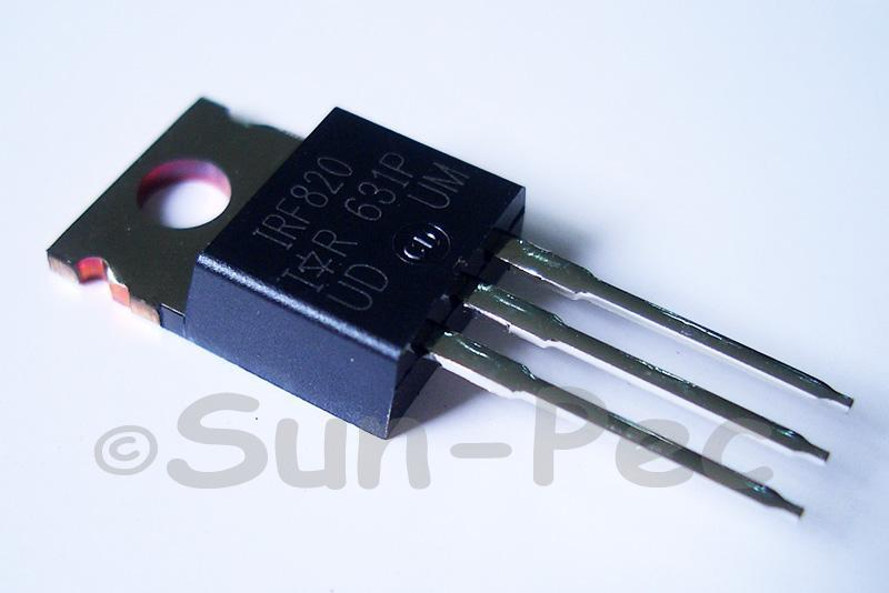 IRF820 N-Channel power Mosfet 500V 3A TO220 2pcs - 6pcs