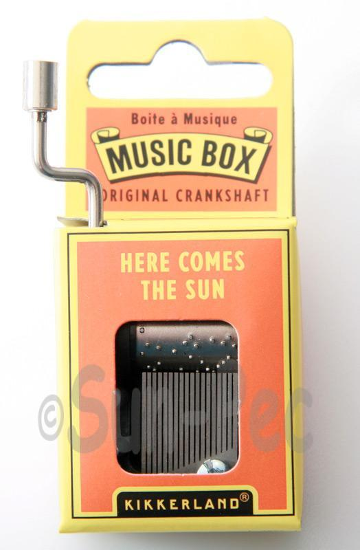 Here comes the Sun Kikkerland Wind-Up Hand Crank Music Box 1pcs