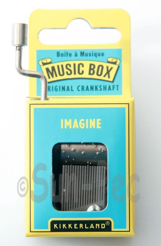Imagine Kikkerland Wind-Up Hand Crank Music Box 1pcs